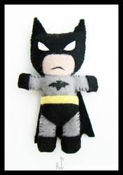 Mini Batman Plushie by AnirBrokenear