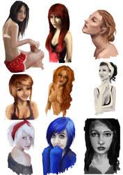 random portrait dump 2 by AnirBrokenear