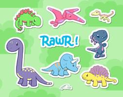 Kawaii Dinosaur World by DCRmx