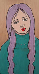 Purple Hair by KittyCooper