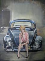 bug geek girl by Tony-Lewis-artwork