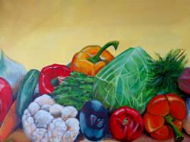 study in vegetarianism number #2 by Tony-Lewis-artwork