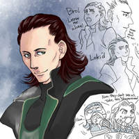 Loki Scribble by getakichi