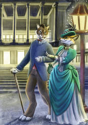 A walk by gaslight by Schiraki