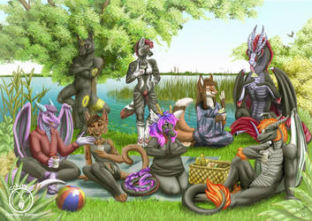 picnic with friends by Schiraki