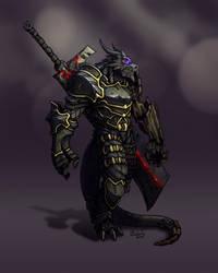 Dragonborn Fighter by AnarkhyX