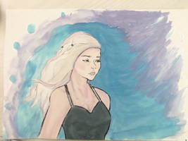 Portrait of Daenerys Targaryen by Sameore