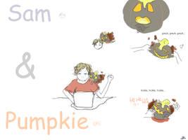Go tease the ghosty pumpkin... by Sameore