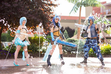 Valkyrie Squirtle Evolutions Gijinka Group by tsundereservice