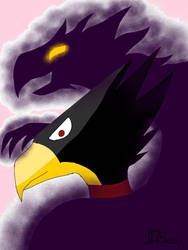 Tokoyami and dark shadow by CreepypastaJTK