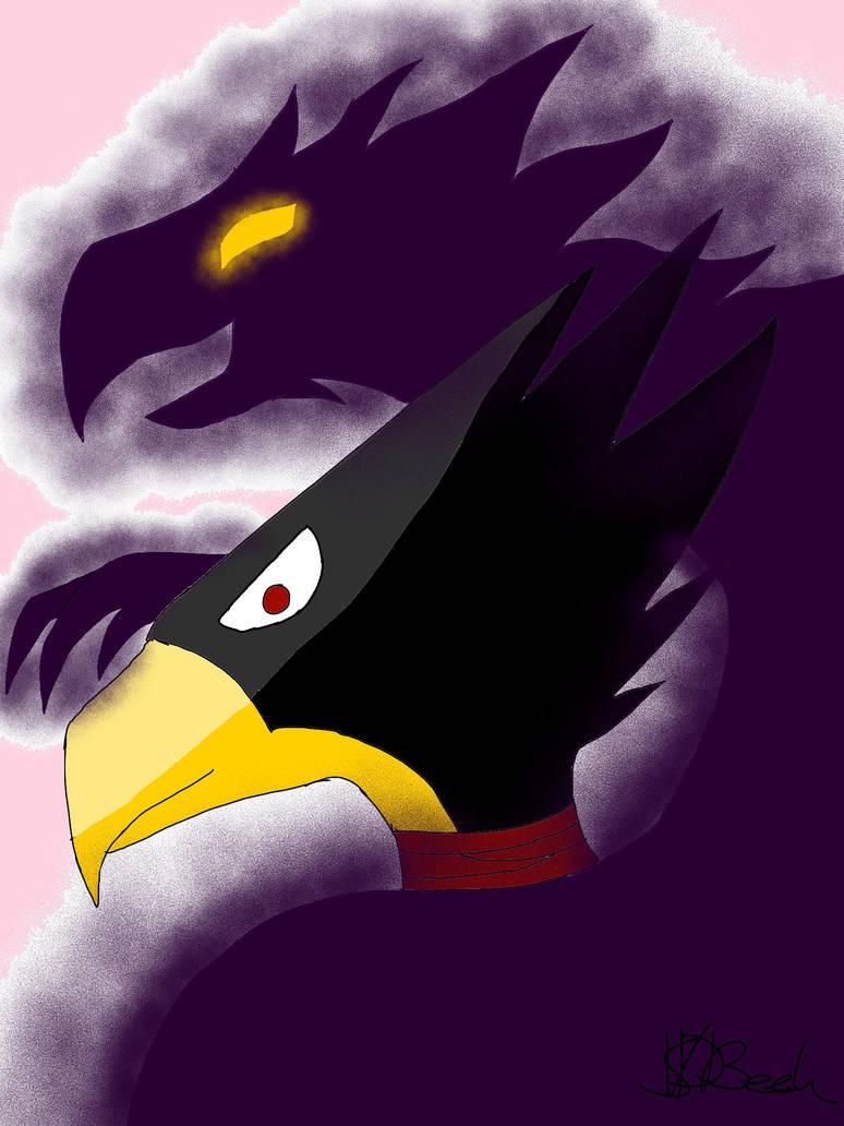 Tokoyami and dark shadow by CreepypastaJTK