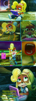 (REQUEST) (VORE) Coco Bandicoot eats Crash by FURRHEHE