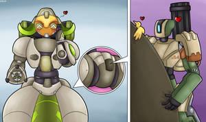 Commission - Giant Centaur Robot Booty by DinoBirdOfDoom