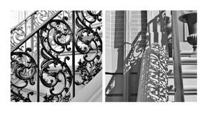 South End Wrought Iron Diptych by JJPoatree
