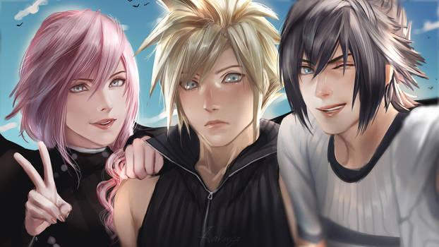 Final Fantasy Trio by Kirakanjo
