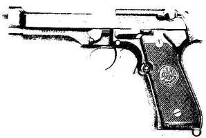 gun stencil by slimfast