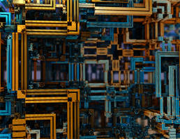 Colorstruction - SierpPong 040 by LukasFractalizator