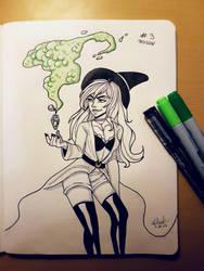 Inktober2017 | Day 3 | Poison by DarkOrigami