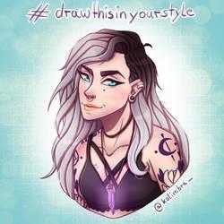 Witch OC Raven Reed #Drawthisinyourstyle by DarkOrigami