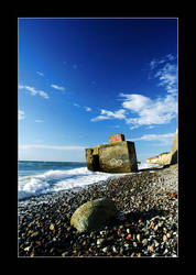 old bunker at the coast by BurnedFlowers