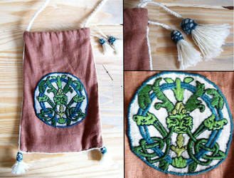 Embroidered Bag by Tournevent
