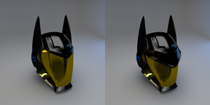 Batman Space Helmet by AzizDraws