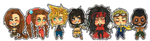 F F 7 - Group Chibi by roolph