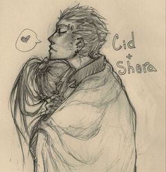 F F 7: Cid x Shera COLD by roolph