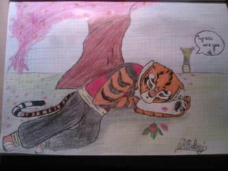 Tigress is sad by Klukej