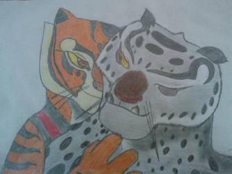 Tigress huging Tai Lung by Klukej