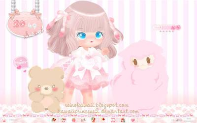 Sweet Pink Lolita Desktop by kawaiiprincess2