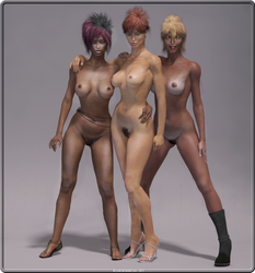 Suelma, Sirya and Donatella by Y-Phil
