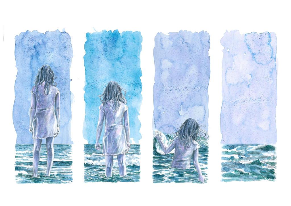 Girl made of salt by Cunachu