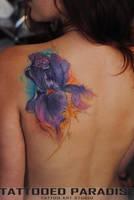 Iris watercolor tattoo by dopeindulgence