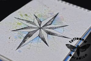compass watercolor by dopeindulgence