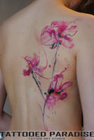 watercolor orchids by dopeindulgence