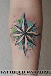 wind rose watercolor by dopeindulgence