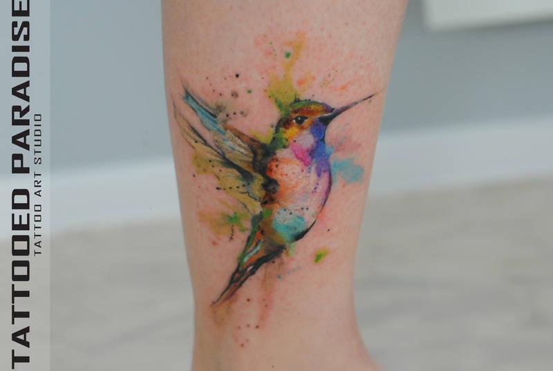 Watercolor Tattoo Hummingbird By Dopeindulgence On Deviantart
