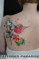 watercolor bird by dopeindulgence