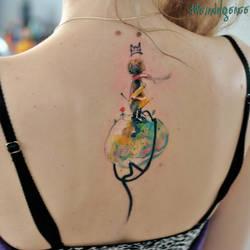 The Little Prince Tatt/Watercolor by dopeindulgence