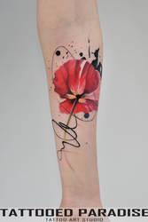 tulip watercolortattoo by dopeindulgence
