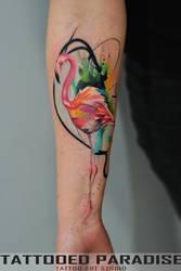 Flamingo Tatt by dopeindulgence