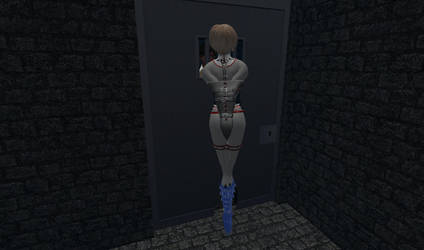 Power Girl in her private cell 004 by PGLinda