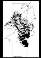Gambit ink by jorgecopo