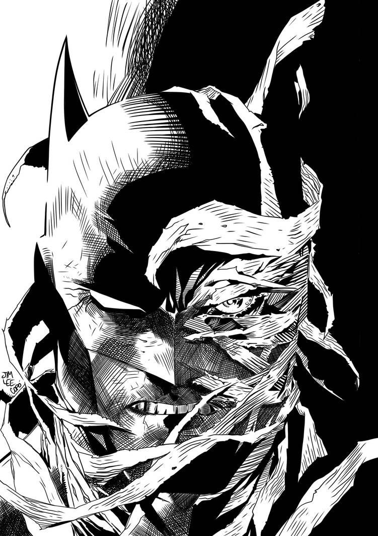 Test digital ink Batman/hush by jorgecopo