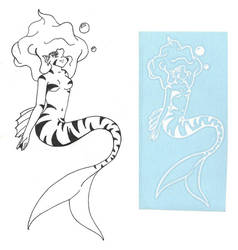 Tiger Shark Mermaid Sticker by Roseangel