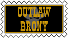 Outlaw Brony Stamp by lonewolf3878