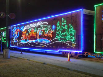 Railfan Trip: 12-3-18: Light Art by lonewolf3878