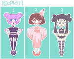 [OPEN] Adoptables!! by Uiritas