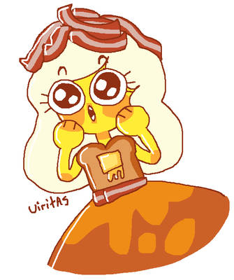 Fanart February Day 2 - Breakfast Princess by Uiritas